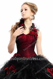 Gothic Wedding Dresses Gothic Wedding Dresses Red And Black Sweetheart Ball Gown