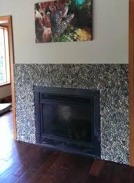 bali ocean pebble tile fireplace surround pebble tile shop