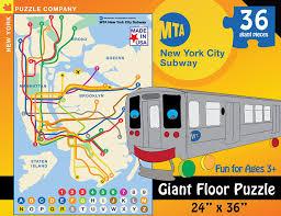 Mta Nyc Subway Map Amazon Com New York Puzzle Company New York City Transit Mta