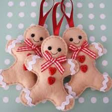 gingerbread ornaments felt christmas ornaments set of 2 gingerbread felt new year