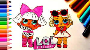 lol surprise baby doll coloring pages for kids lol dolls