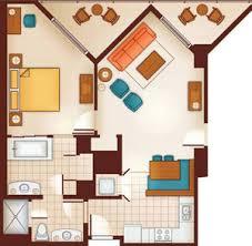 Bay Lake Tower Two Bedroom Villa Floor Plan Aulani Disney Vacation Club Villas Ko Olina Hawaii Dvc Rental