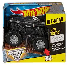 outlaw monster truck show amazon com wheels monster jam rev tredz batman truck toys