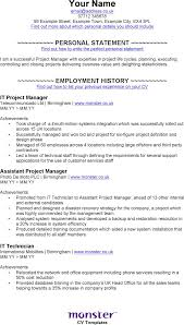 Project Manager Example Resume by The It Project Manager Cv Template Can Help You Make A Sample Cv