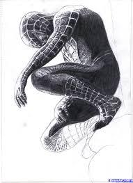 black spiderman drawings pencil drawn spider man pencil drawing