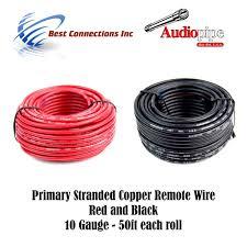 amazon com 10 gauge wire red u0026 black power ground 50 ft each