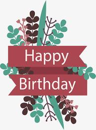 happy birthday ribbon flower ribbon header box vector png happy birthday ribbon