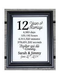 12 ans de mariage 12ème anniversaire de mariage en coton impression 12 cadeau