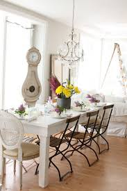 shabby chic farmhouse table grandfather clocks for sale in dining room shabby chic with table