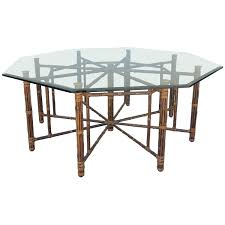 8 Dining Table Rare Large 8 Leg Vintage Mcguire Hexagon Dining Table Dining