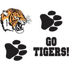go tigers set temporary tattoos stumps
