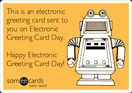 this is an electronic greeting card sent to you on electronic