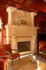 Travertine Fireplace Hearth - this two story travertine fireplace makes a statement in this home