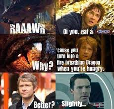 The Hobbit Meme - bilbo gives smaug a snickers they re taking the hobbits to