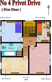 floorplans of the house at number four privet drive u2013 the harry