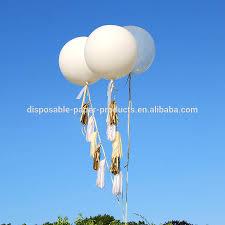 large white balloons new party decoration ideas tasselled helium balloon