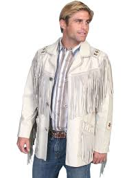Country Western Clothing Stores Pungo Ridge Scully Men U0027s Leather Hand Laced Bead Trim Coat W