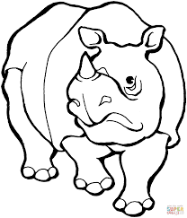 rhino coloring page captivating brmcdigitaldownloads com
