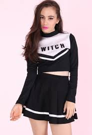 Halloween Cheer Costumes Halloween Cheerleader Costume Grunge Hunt