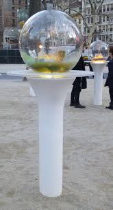 Gazing Globe Pedestal Paula Hayes Gazing Globes In Madison Square Park The Worley Gig