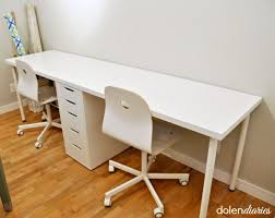 White Office Desk Ikea Best 25 Two Person Desk Ideas On Pinterest 2 Person Desk Home