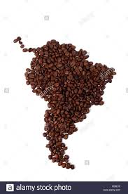 A Map Of South America Map Of South America Made Of Coffee Beans Stock Photo Royalty