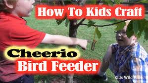 how to make a bird feeder with cheerios diy kids activity craft
