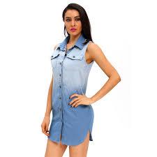 online get cheap button down denim dresses aliexpress com