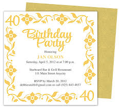 golden birthday invitations template best template collection