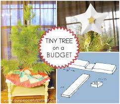 small tree pattern stand on a budget