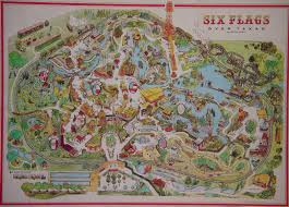 Texas Six Flags Six Flags Over Texas 1983 A Demarcation Of Delineated Spatial