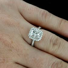 radiant cut halo engagement rings platinum halo engagement ring mounting for radiant cut