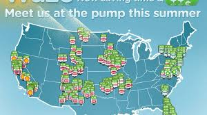Waze Map Waze App Update Adds Real Time Gas Prices Fuel Discounts Roadshow