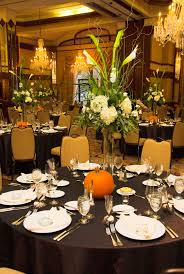 nemacolin wedding in grand ballroom fall wedding decor