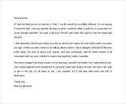letter to teacher thank you letters font