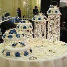 Wedding Cake Display Aliexpress Com Buy 4pcs Lot K9 Crystal Cake Stand Wedding Main