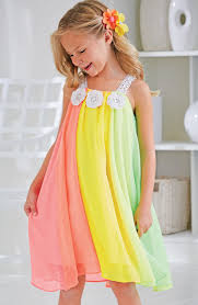 girls dresses for our wedding from cwdkids rainbow chiffon