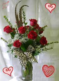 roses for valentines day 1 dozen roses 4 valentines day w leopard print ribbon
