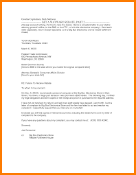 Business Letter Template With Cc Format Letter Of Complaint Images Letter Samples Format