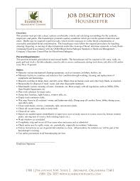 Resume Templates For Housekeeping Housekeeper Resume Exle Template Design