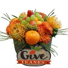 thanksgiving flower arrangement happy thanksgiving flower fruit platter arrangement