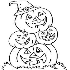 dessin citrouilles a colorier halloween pinterest dessin