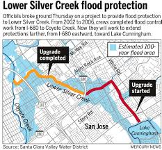 San Jose District Map by Work Begins On San Jose Flood Control Project Bankrolled By