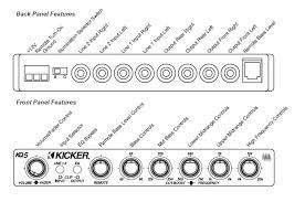 amazon com kicker 03kq5 5 band parametric equalizer car electronics