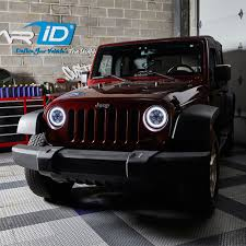 2012 jeep wrangler headlights lumen jeep wrangler 2007 2017 7 black projector led