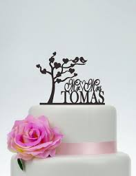 mrs mrs cake topper tree cake topper birds topper mr and mrs cake topper