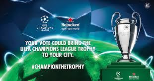 Uefa Chions League Heineken The Trophy Tour India