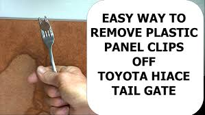 dinner fork remove plastic panel clip
