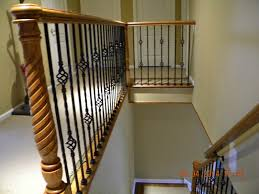 Iron Banisters Wood Stairs And Rails And Iron Balusters Wood Handrail With Iron