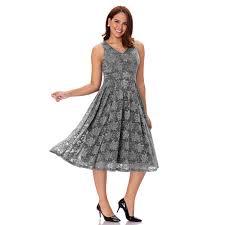 elegant women u0027s vintage sleeveless v neck lace midi dress cocktail